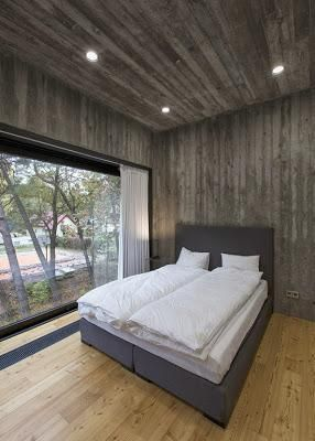 casa moderna de hormigon y madera