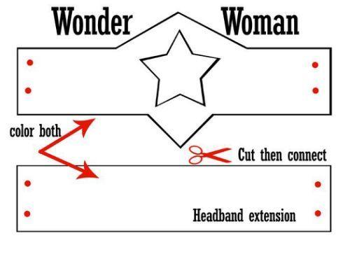 Wonder Woman Crown Template Google Wonder Woman Diy Wonder