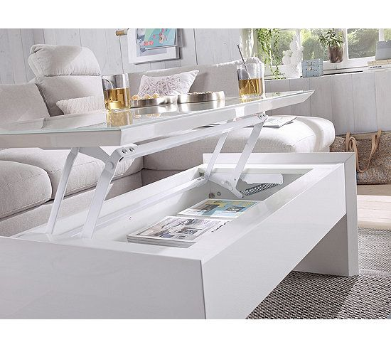 Table Basse Plateau Relevable Tommy 2 Blanc Taupe Table Basse But En 2020 Table Basse Plateau Table Basse Table Basse Blanche