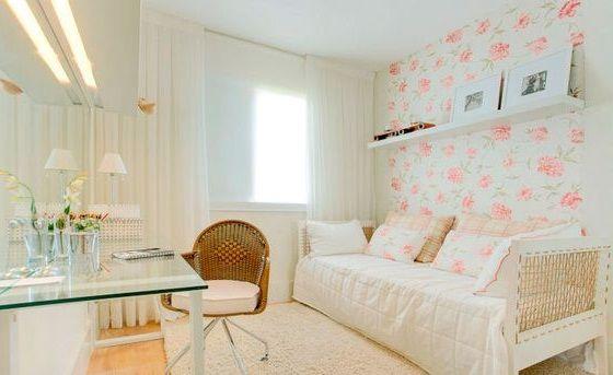Papel de parede - floral quarto