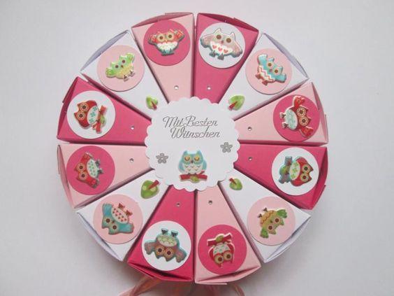 Kleine Torte  zum Kindergeburtstag, Eulen von Deko-Ideenreich auf DaWanda.com
