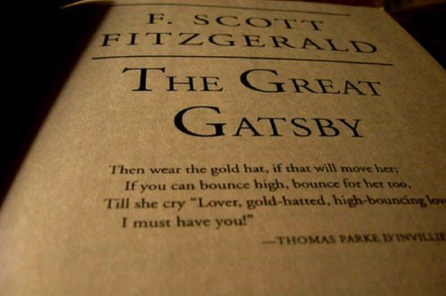 Epigraph at the beginning of the Great Gatsby?