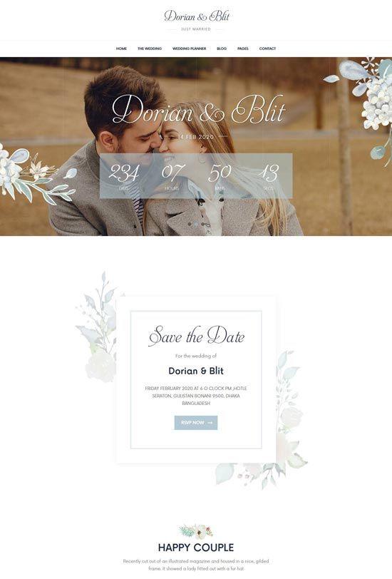 85 Best Wedding Website Templates Free Premium Freshdesignweb Wedding Website Rsvp Wedding Website Wedding Website Design