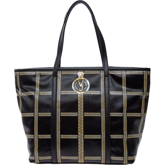 "celine handbags for sale online - Versace Jeans"" Black & Gold-Tone Zip Tartan Tote Bag - TK Maxx ..."