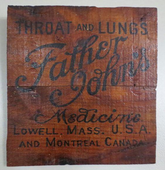 Father John's Medicine Vintage Shipping Crate $54 by ThriftHorseInc