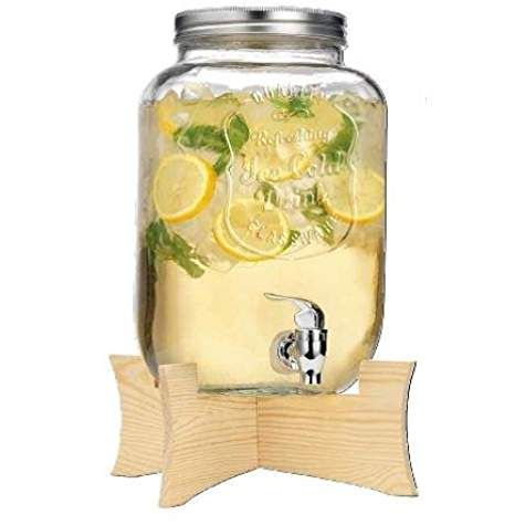 Love The Wooden Stand Womder If I Can Make One For The Dispenser I Have Gallon Mason Jars Drink Dispenser Mason Jar Drink Dispenser