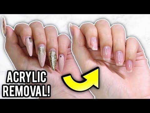 If You Re Trying To Remove Your Acrylic And Even Gel Nails Without Damaging Them Try These In 2020 Remove Acrylic Nails Take Off Acrylic Nails Acrylic Nails At Home