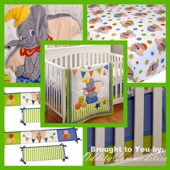 Ebay Disney Dumbo Baby Bedding Set For Morrison Crimson