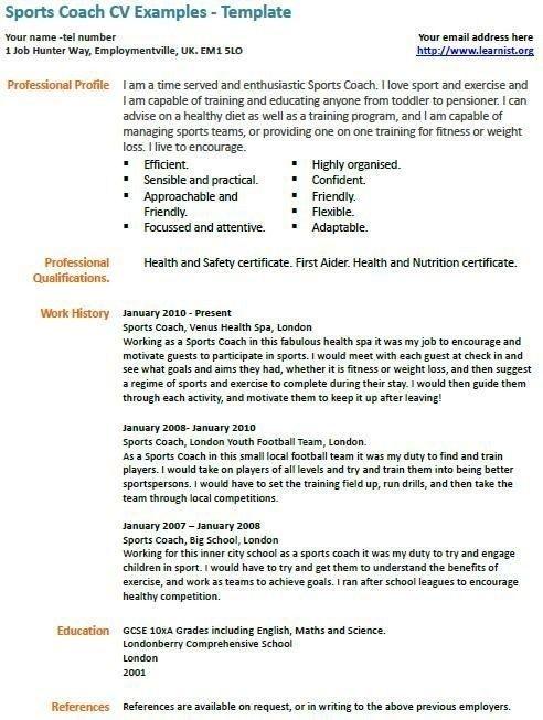 Sports Coach Cv Example Coaching Drills 1153492356 Sports Sports Coach Football Coach Job Resume Samples