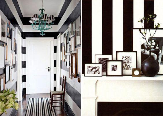 Listras em preto e branco na decoração | Constance Zahn - Blog de decoração, receitas e dicas para a casa