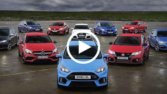 C'est un comparatif géant qui a été mis sur pied. Il voit la Ford Focus RS affronter neuf concurrentes produites par neuf marques...