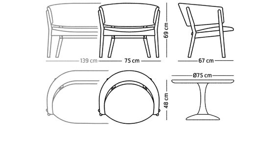 ND83 chair and ND82 sofa by Nanna Ditzel / Snedkergaarden