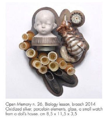 SCHMUCK 2017 - Barbara Paganin -   at AAD exhibition - Open Memory n°26 brooch: