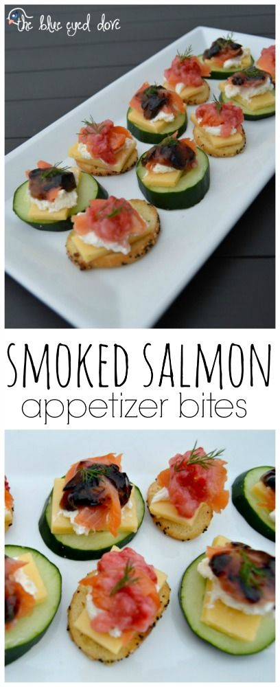 An easy and delicious spin on a smoked salmon appetizer! theblueeyeddove.com