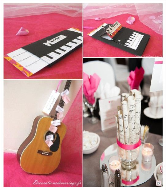 mariage musique faire part jazz piano menu faire part guitare livre d 39 or deco mariage 2. Black Bedroom Furniture Sets. Home Design Ideas