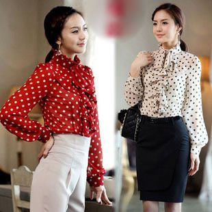Aliexpress.com : Buy Free shipping women blouse 2013 fashion long sleeve tops new fashion lady dress shirt from Reliable women blouse suppliers on King World International Trading Limited $15.99