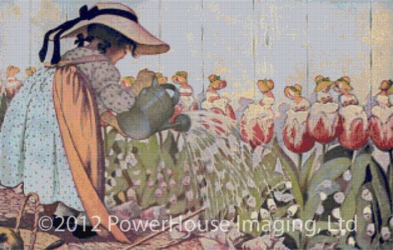Mary, Mary, Quite Contrary (Jessie Willcox Smith) – Cross Stitch Chart