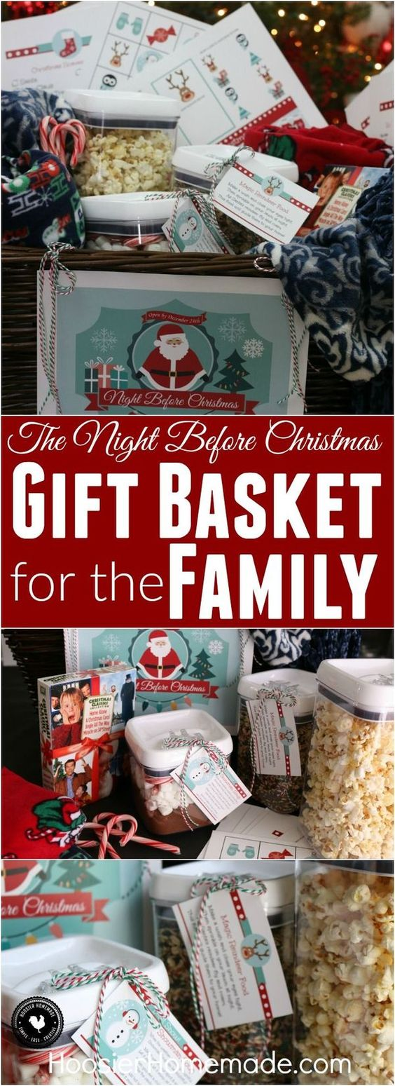 Christmas gift baskets meaningful gifts and the night for Handmade christmas gifts for family