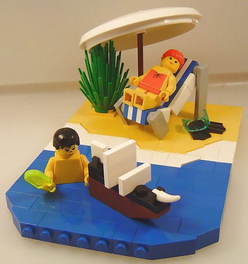 Playing with the Lego 10210 Imperial Flagship by teruel211 on Flickr. #AFOL #Beach