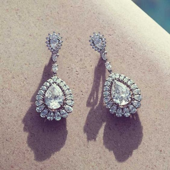 Diamonds we want for the weekend - @chopard Red Carpet Collection pear shaped #diamond earrings #Chopard #summerjewels #diamondearrings #diamonds