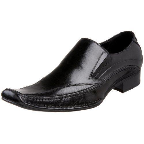 Steve Madden Men's Bigg Slip-On Black Leather 8.5 M US Steve Madden http: