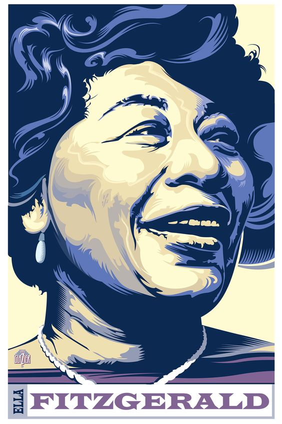 Ella Fitzgerald - Illustration by Garth Glazier