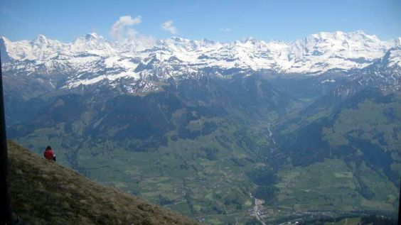 Top of the Niesen. Swiss alps