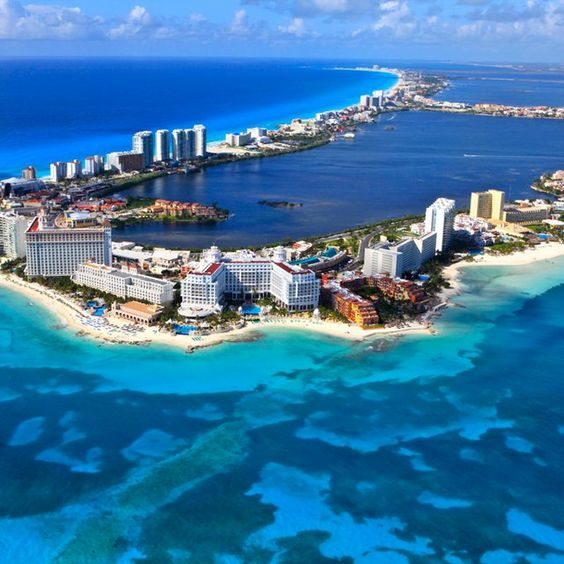 Cancun, Mexico - I remember when one could enjoy miles of desolate beach btwn Club Med and town.