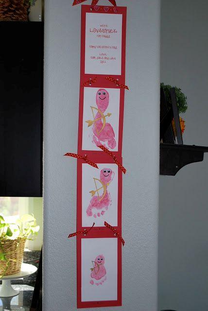 Cupid Footprint Wall Hanging