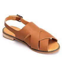 Sandálias de couro Strap Cruz