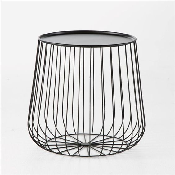 bout de canap fil m tal cage tables. Black Bedroom Furniture Sets. Home Design Ideas