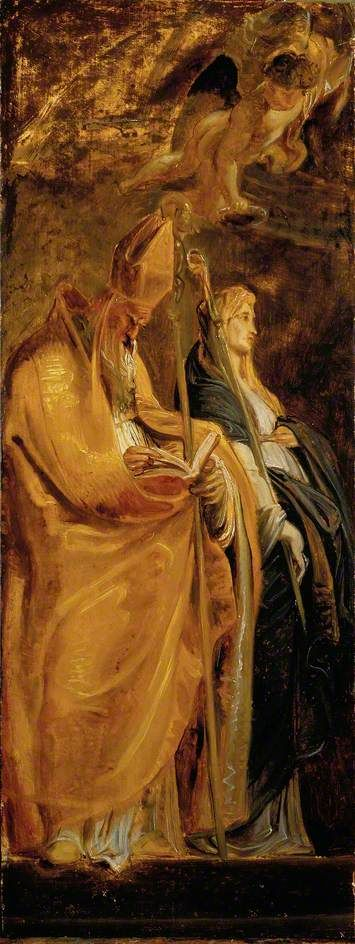 Saints Amandus and Walburga - Rubens, c. 1610