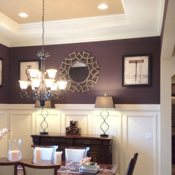 Dining rooms dark purple and purple on pinterest for Dining room ideas purple