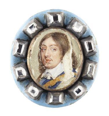 Miniatyrporträtt av konung Karl X Gustav av Sverige (1622-1660), 1600-talets andra hälft.: