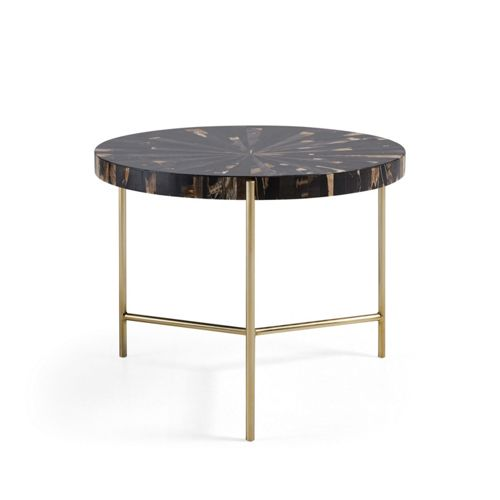 Dominique 24 Round Coffee Table Table Round Wooden Coffee