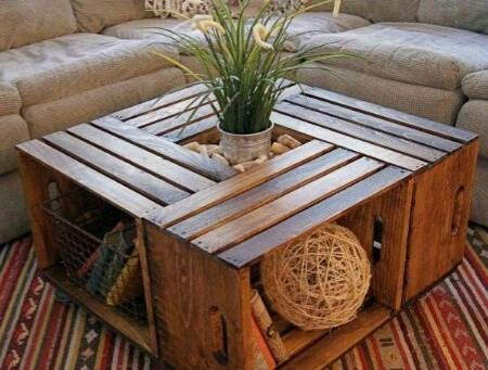 Mesa de centro natural #decoracion