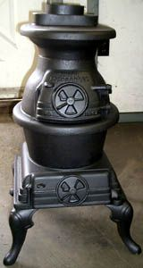 Sears Roebuck Wood And Coal Pot Belly Antique Stove