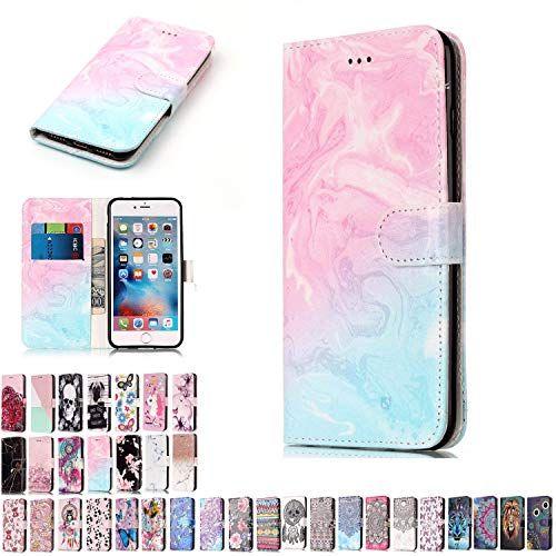LA-Otter Portefeuille Coque Apple iPhone 7 8 Cuir Flip Case Housse Etui Chouette Hibou /à Rabat Folio Motif Design Antichoc Silicone Gel Bumper Pochette Bleu