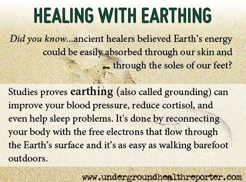 Healing With Earthing ~ ~  http://undergroundhealthreporter.com/earthing-anti-aging#axzz25QadlTFV