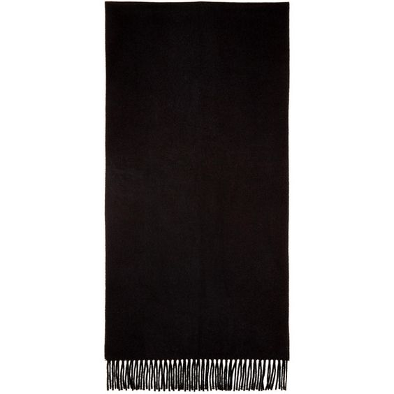 Acne Studios Black Canada Narrow Scarf (£115) ❤ liked on Polyvore featuring men's fashion, men's accessories, men's scarves, black and mens wool scarves