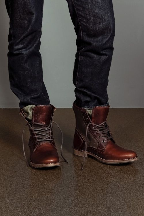 His Boot Tuck? | Dark denim, Mens casual boots and Caterpillar