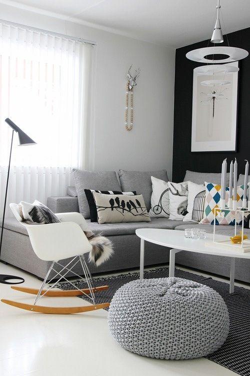 ambiance scandinave douce et chaleureuse et les coussins. Black Bedroom Furniture Sets. Home Design Ideas