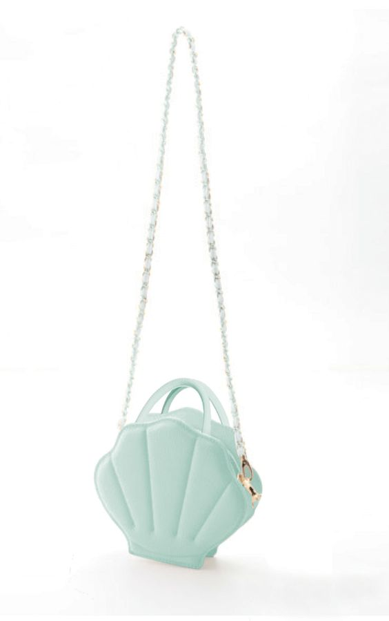 Mermaid Whimsy Sea Shell Purse in Mint Green   Sincerely Sweet Boutique