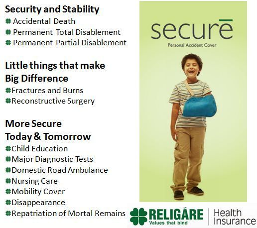 Most Recent Photo Religare Secure Personal Accident Insurance A Personal Accident Cover Addres Accident Insurance Health Insurance Companies Education Major