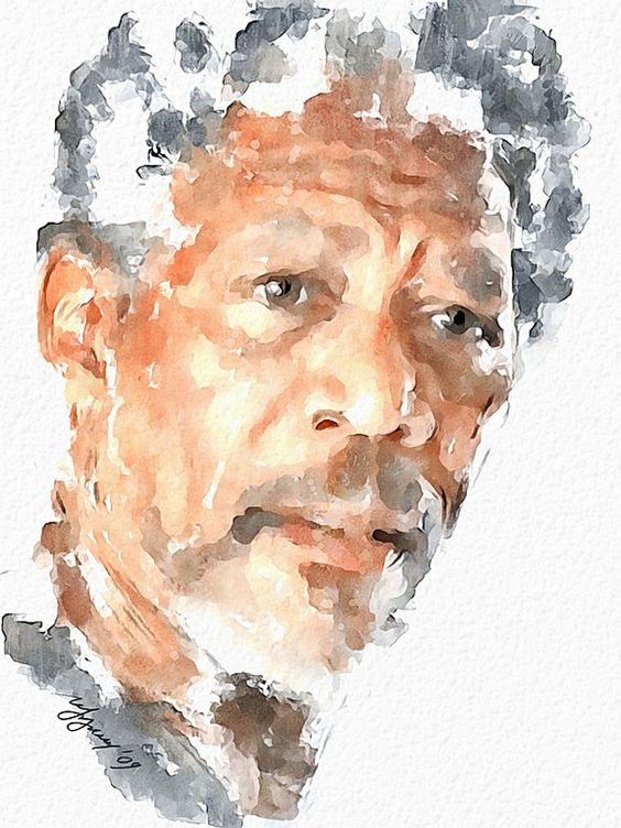 35 Fabulous Celebrity Portrait Watercolor Paintings