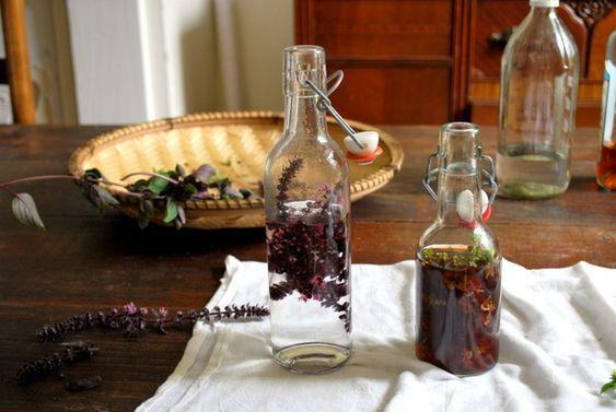 vinagre flor de manjericão | a Casa Amarela