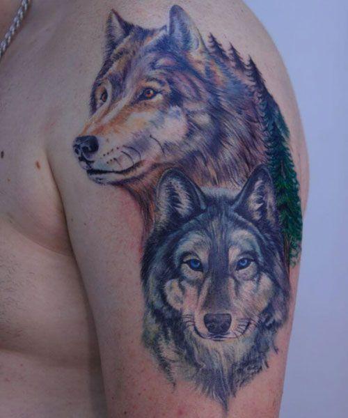 101 Best Wolf Tattoos For Men Cool Designs Ideas 2021 Guide Wolf Tattoos Men Wolf Tattoo Design Wolf Tattoos