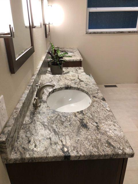 Blue Dunes Leathered Granite Vanity Leather Granite Granite Bathroom Granite Vanity