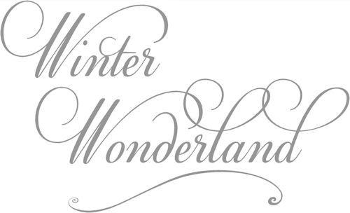 Winter Wonderland --Script | Wall Decals