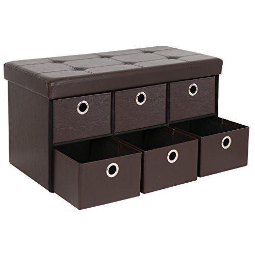 Smartxchoices Brown 30 L Storage Ottoman Bench Pu Leathe Https Www Amazon Com Dp B07dnm89kg Ref Cm Sw Storage Ottoman Bench Storage Ottoman Storage Bench